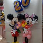 ミッキー&ミニードール☆周年祝いにバルーンドールと数字のバルーンを